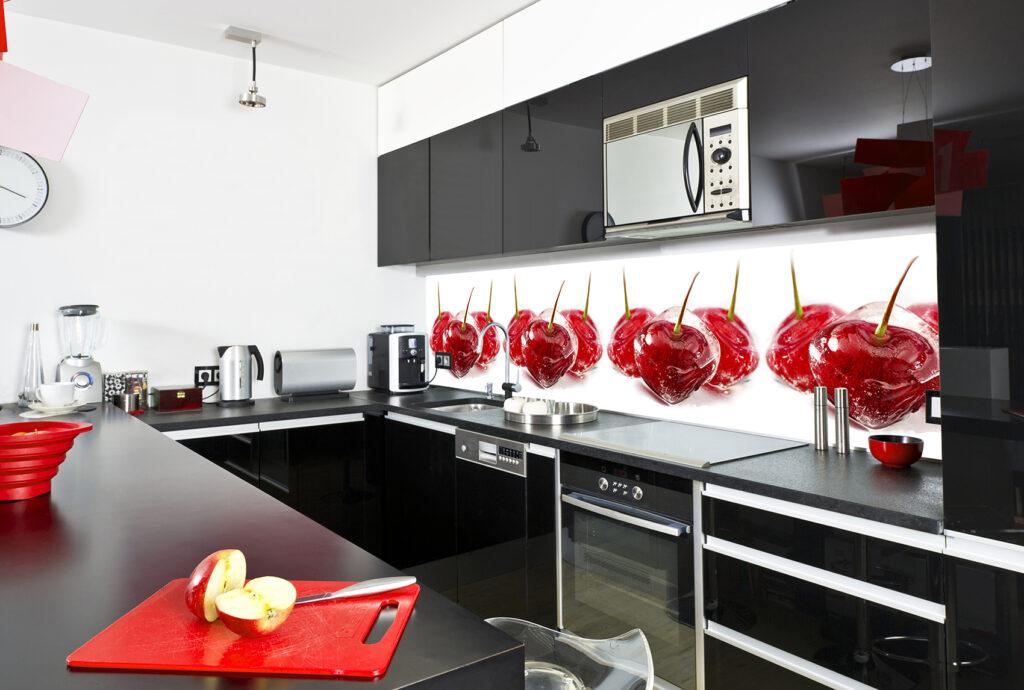 кухня стекляная